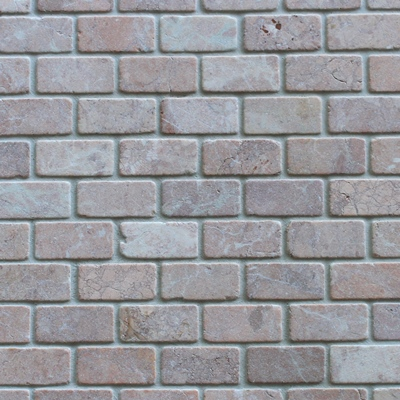 Mozaïek tegel Marmer Rood 2,3×4,8