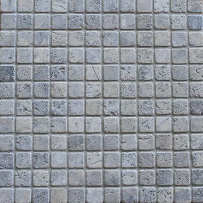 Mozaïek tegel Travertin Silver 2,3×2,3