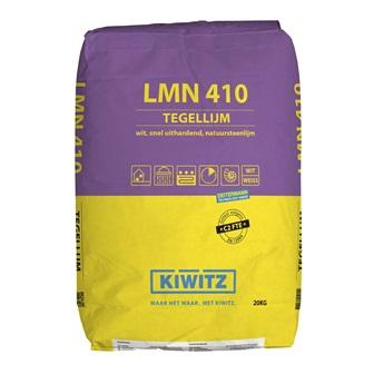 Lijm 410 snelafbindende, (natuursteen) tegellijm wit 20 kg