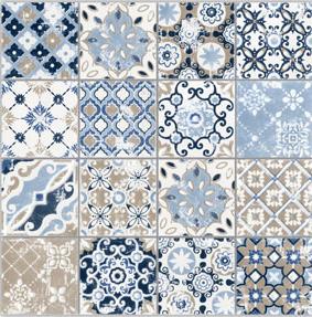 Mozaïek tegel Spring Azzurro 5×5