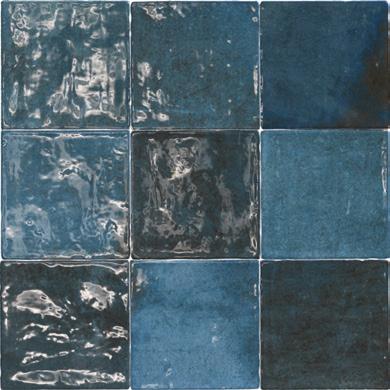 Vintage wandtegel Class zellige Azul Oscuro