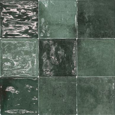 Vintage wandtegel Class zellige Verde Oscuro
